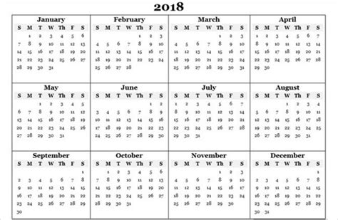 Yearly Content Calendar Template best free 2018 new year calendar for excel word ms