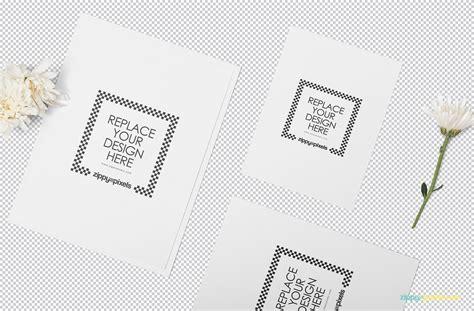 Wedding Card Mockup Psd Free by Wedding Invitation Mockup Psd Free Zippypixels