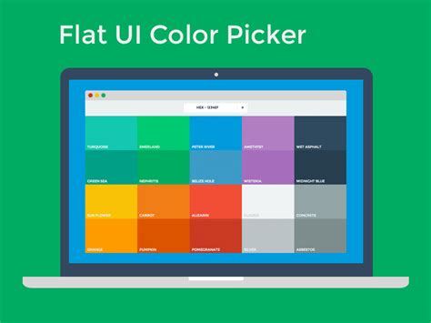 html color picker flat ui color picker by ahmet s 252 lek dribbble
