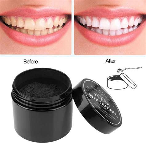black bamboo charcoal tooth powder teeth whitening