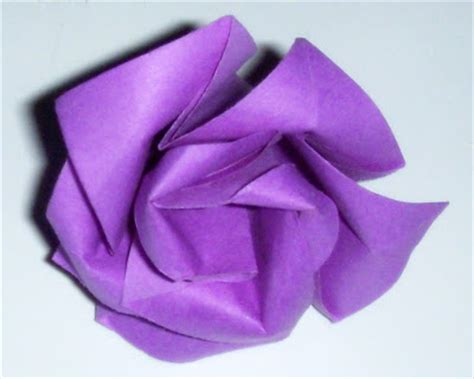 Easy 3d Origami - make easy simple origami purple 3d easy origami