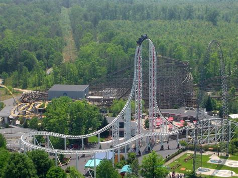 theme park usa free stock photo of rollercoaster ride in a usa themepark