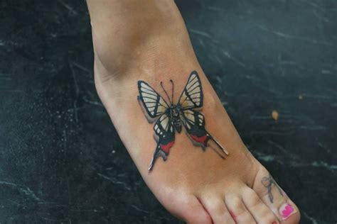 3d tattoo on foot 3d butterfly foot tattoo best tattoo ideas designs