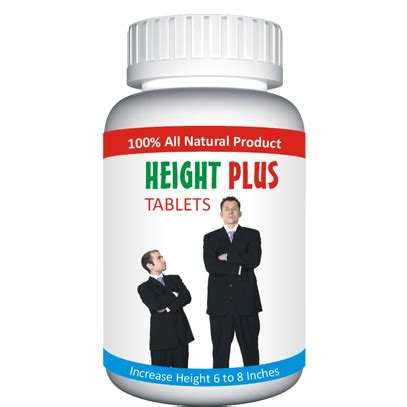 height plus (tablets) for men and women herbal medicine
