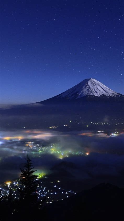 wallpaper iphone 6 japan mount fuji japan night view iphone wallpaper