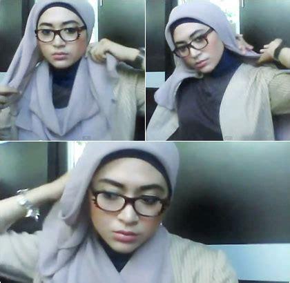 Tutorial Hijab Paris Untuk Wanita Berkacamata | kreasi hijab untuk wanita berkacamata dengan jilbab paris