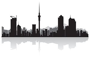Auckland Skyline Outline by Icon Become An Icon Member
