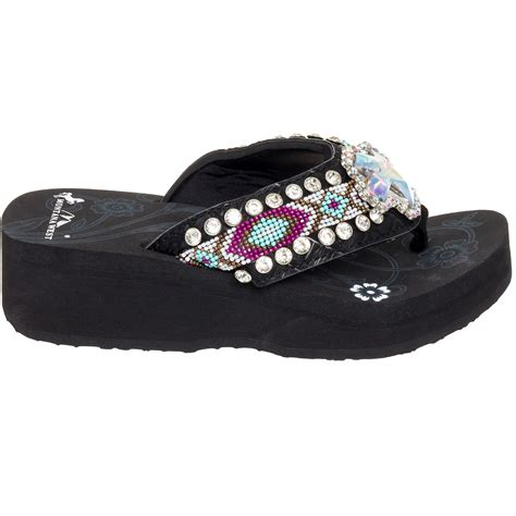 beaded flip flop sandals montana west aztec beaded flip flop sandal shoes ebay