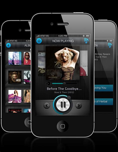 music layout on iphone iphone music player app concept on app design served