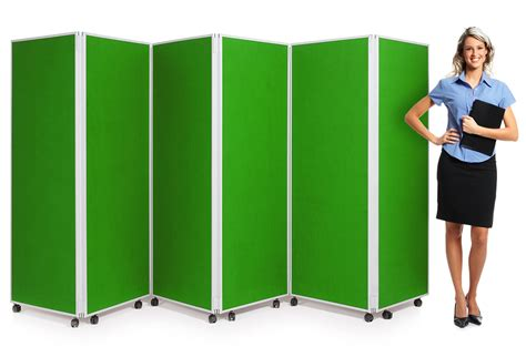 6 panel mobile concertina screen room divider is perfect