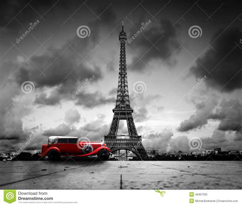 download film eiffel i m in love extended 2004 effel tower paris france and retro red car stock image