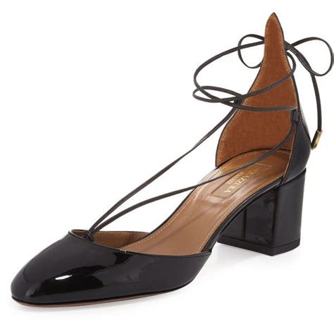 Flat Shoe Crc aquazzura patent mid heel 399 585 crc liked