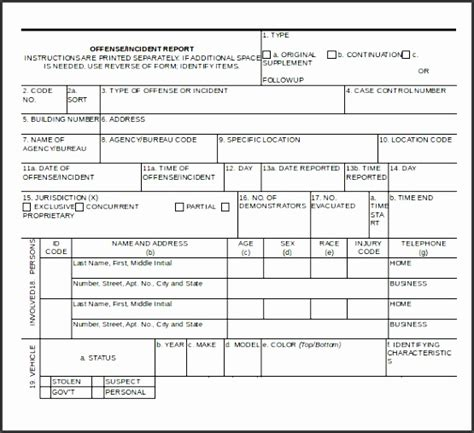 sle of a report pdf 10 crime incident report template sletemplatess