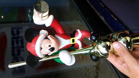mr christmas animated mickey mouse tree topper youtube