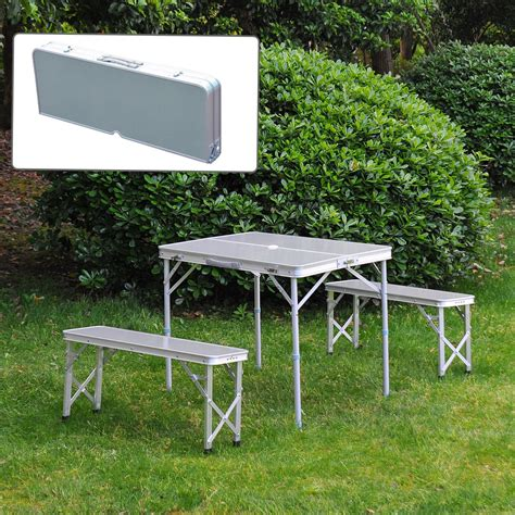 outdoor folding bench seat outsunny 3 portable outdoor picnic table with folding