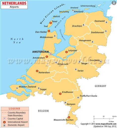 netherlands map major cities airports in netherlands netherlands airports map