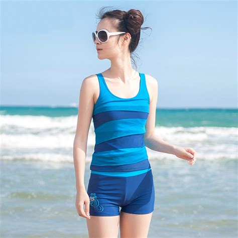 swimwear swimsuits for women bathing suits 2013 2014 summer womens hot selling split sports conservative