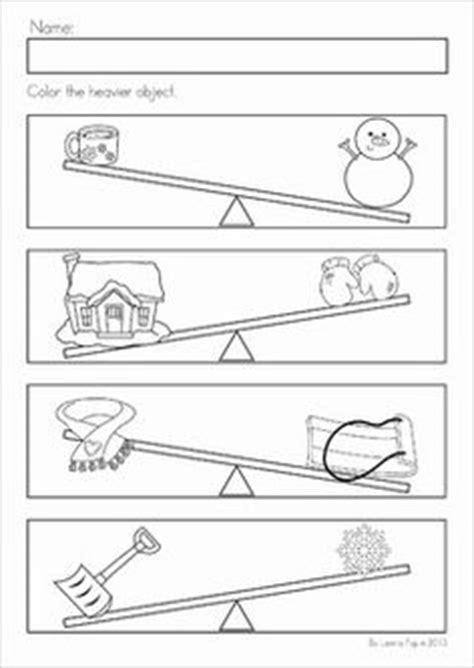 heavy and light lesson plan kindergarten heavy vs light cut and glue activity size comparison