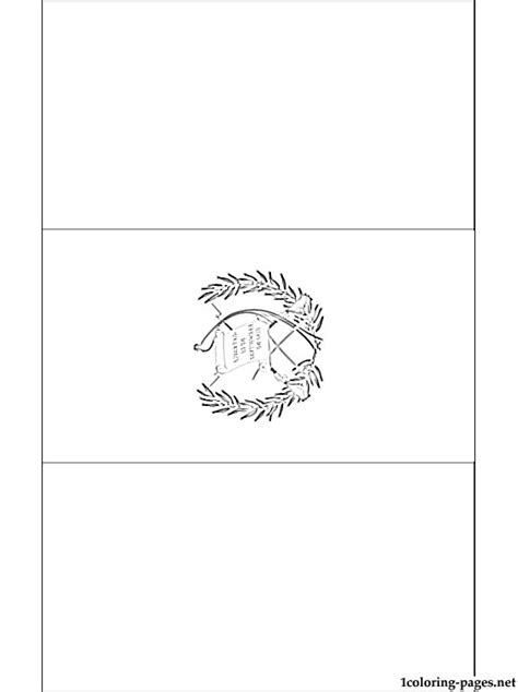 Guatemala Flag Coloring Page Coloring Pages Guatemala Flag Colouring Pages Page 2