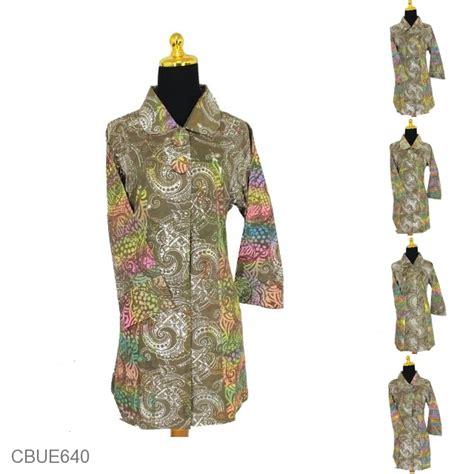 Kirana Etnik blus tunik kirana motif keyong pelangi blus lengan