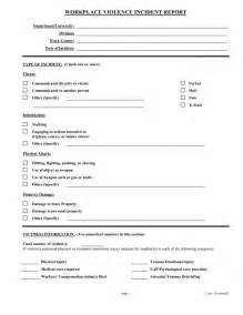 Osha Incident Report Form Template Employee Incident Report Form Doc Work Incident Report