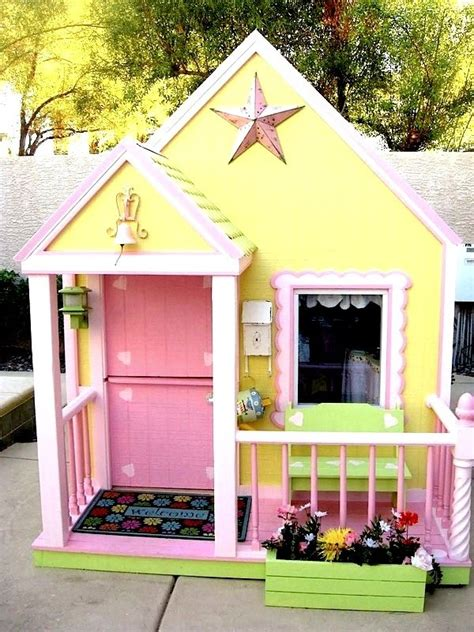backyard play houses outdoor playhouse for kids woodworking projects plans