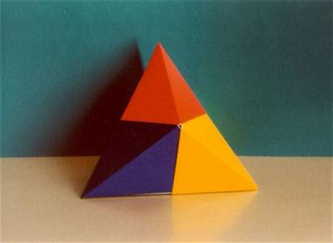 Origami 3d Triangle - origami maniacs origami pyramid lid box by tomoko fuse