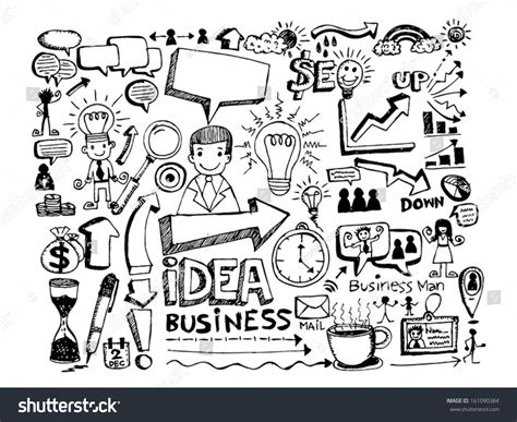 sign up for doodle account draw doodle icon business illustration stock vector