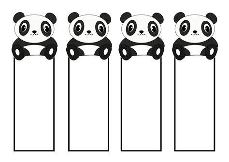 printable panda bookmark printable cute bookmarks activity shelter