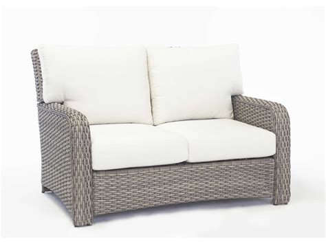 rattan loveseat cushions south sea rattan st tropez wicker cushion arm loveseat 79302