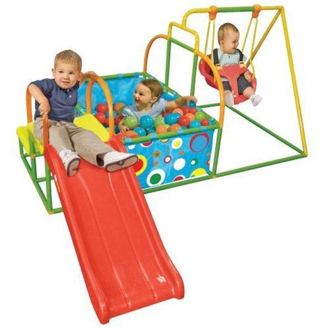 toddler swing set toddler swing set slide pit activity by one