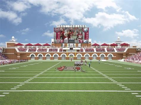 Home Design Center Dallas troy university to renovate veterans memorial stadium