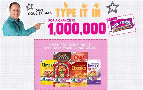 Box Tops Sweepstakes - box tops 4 education 1 million box tops instant win game sweepstakesbible