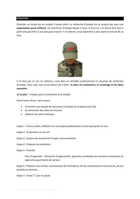 Lettre Militaire Modèle modele cv militaire document