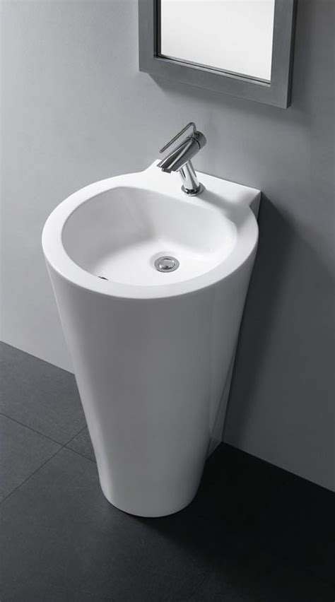 Modern Pedestal Bathroom Sinks Modern Pedestal Sink Durazza