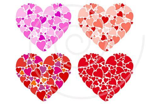 pattern design heart red heart digital clip art set for printable mother s day