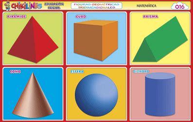 figuras geometricas tridimensionales nombres chikipedia y chikilines l 193 minas escolares chikilines 16