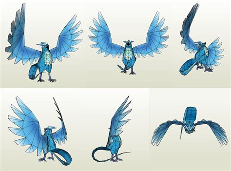 Moltres Papercraft - papercraft articuno by jyxxie on deviantart