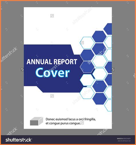 layout of cover page of a report 4 annual report cover page design templates progress report