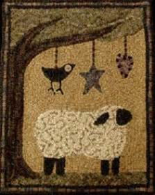 Saltbox Rug Hooking by The Saltbox Hangin Around Wool Rug Hooking Pattern