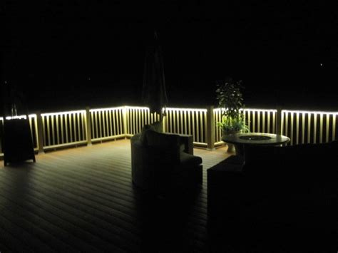outdoor led deck lighting deck and balcony design with led lighting traditional