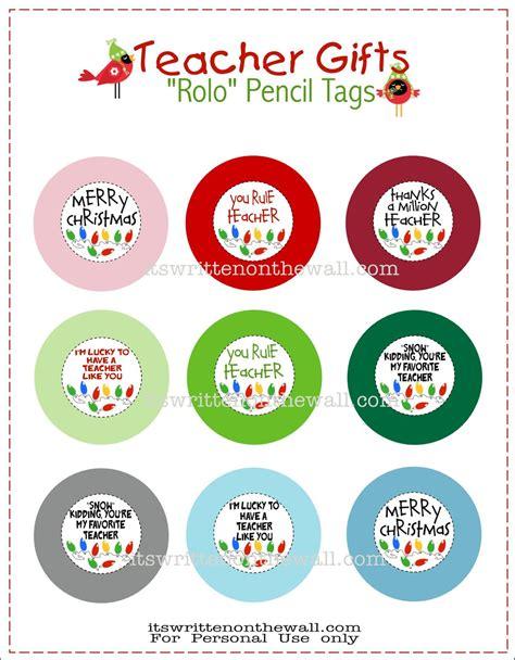 printable christmas tags for teachers freebie teacher christmas gift rolo pencils w tags