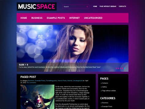 themes music wordpress free musicspace free wordpress theme