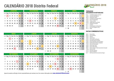 Calendario Lunar 2018 Calend 193 2018 Para Imprimir Feriados