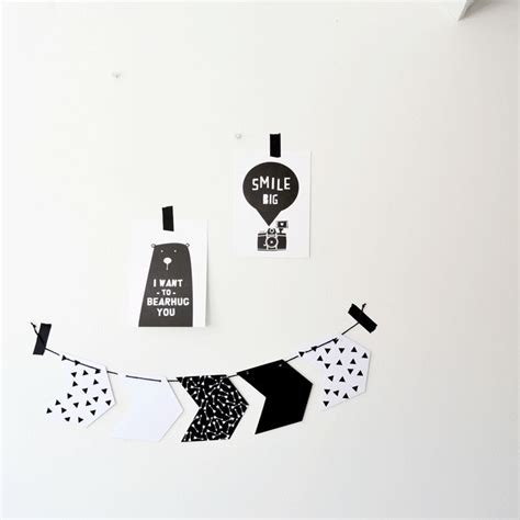 White Black Garlan Top free printable arrow garland monochrome white black