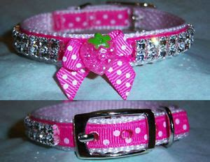 custom yorkie collars strawberry rhinestone collar chihuahua yorkie custom collar any size