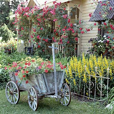 Garden Decorations Ideas Vintage Furniture And Garden Decor 12 Charming Backyard Ideas