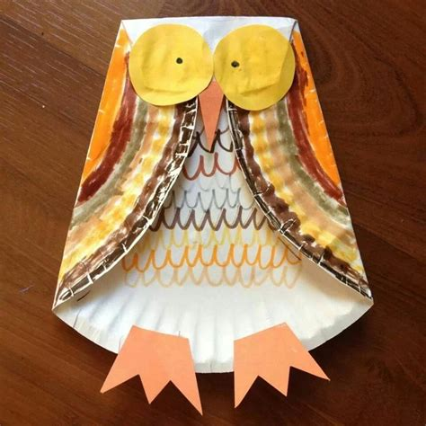 Fall Paper Plate Crafts - fall autumn owl craft paper plate crafts