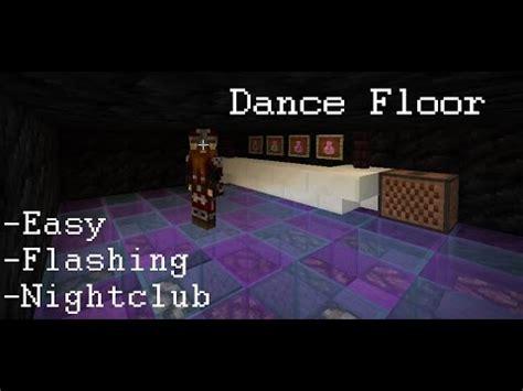 tutorial dance disco minecraft dance floor nightclub disco floor tutorial