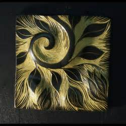 painting on ceramic tile craft wall art decor ideas green abstract ceramic wall tile art